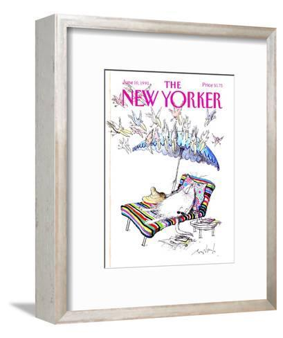 The New Yorker Cover - June 10, 1991-Ronald Searle-Framed Art Print