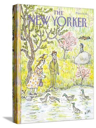 The New Yorker Cover - June 10, 1985-William Steig-Stretched Canvas Print