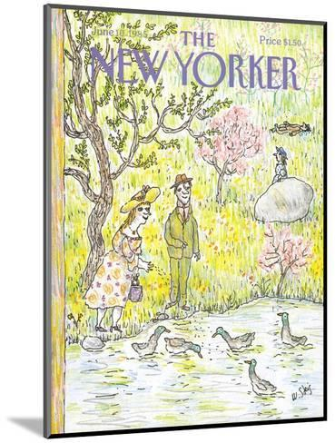 The New Yorker Cover - June 10, 1985-William Steig-Mounted Premium Giclee Print
