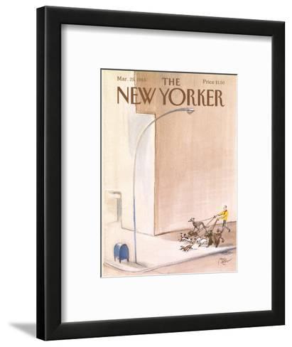 The New Yorker Cover - March 25, 1985-Paul Degen-Framed Art Print