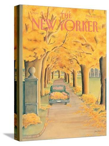 The New Yorker Cover - November 12, 1984-Jenni Oliver-Stretched Canvas Print