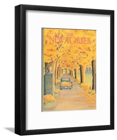 The New Yorker Cover - November 12, 1984-Jenni Oliver-Framed Art Print