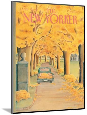 The New Yorker Cover - November 12, 1984-Jenni Oliver-Mounted Premium Giclee Print