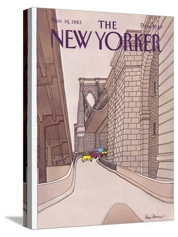 The New Yorker Cover - November 14, 1983-Roxie Munro-Stretched Canvas Print