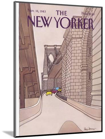 The New Yorker Cover - November 14, 1983-Roxie Munro-Mounted Premium Giclee Print