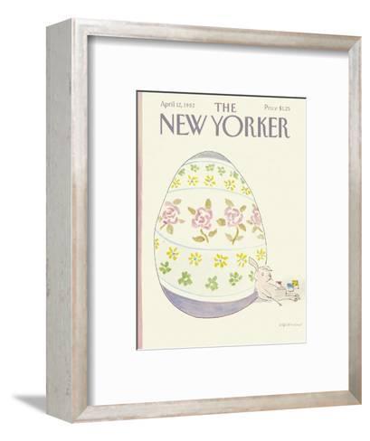 The New Yorker Cover - April 12, 1982-James Stevenson-Framed Art Print