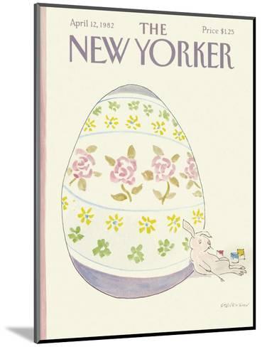 The New Yorker Cover - April 12, 1982-James Stevenson-Mounted Premium Giclee Print