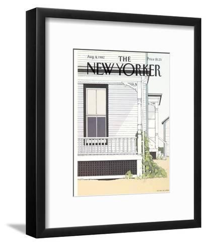 The New Yorker Cover - August 9, 1982-Gretchen Dow Simpson-Framed Art Print