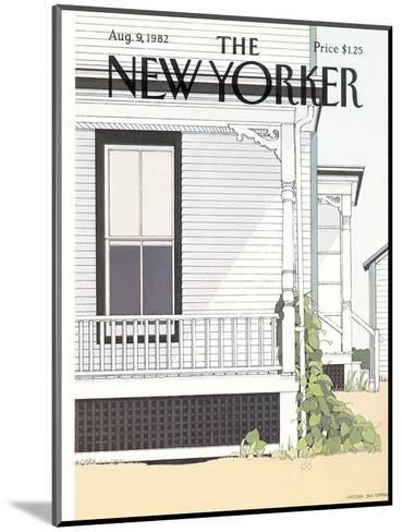 The New Yorker Cover - August 9, 1982-Gretchen Dow Simpson-Mounted Premium Giclee Print