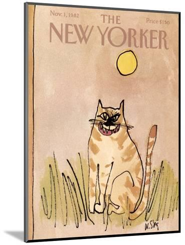 The New Yorker Cover - November 1, 1982-William Steig-Mounted Premium Giclee Print