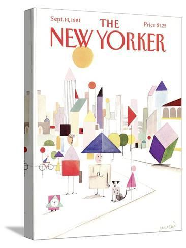 The New Yorker Cover - September 14, 1981-Paul Degen-Stretched Canvas Print