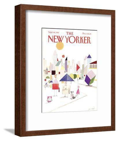 The New Yorker Cover - September 14, 1981-Paul Degen-Framed Art Print
