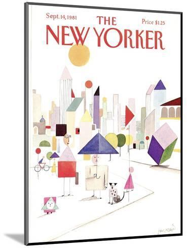 The New Yorker Cover - September 14, 1981-Paul Degen-Mounted Premium Giclee Print