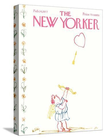 The New Yorker Cover - February 14, 1977-William Steig-Stretched Canvas Print