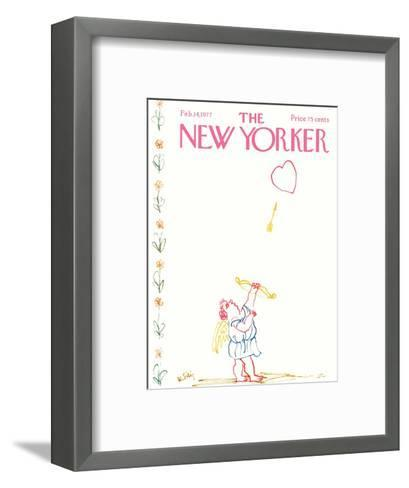 The New Yorker Cover - February 14, 1977-William Steig-Framed Art Print