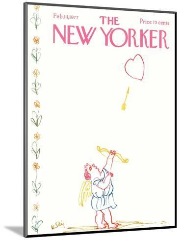 The New Yorker Cover - February 14, 1977-William Steig-Mounted Premium Giclee Print