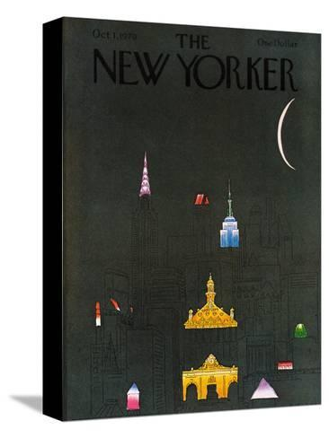 The New Yorker Cover - October 1, 1979-R.O. Blechman-Stretched Canvas Print