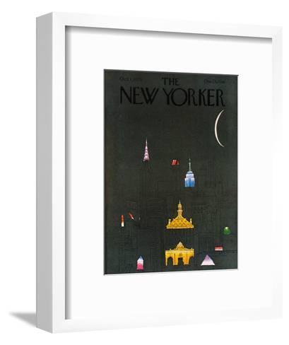 The New Yorker Cover - October 1, 1979-R.O. Blechman-Framed Art Print