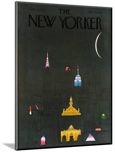 The New Yorker Cover - October 1, 1979-R.O. Blechman-Mounted Premium Giclee Print