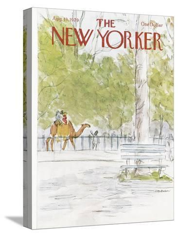 The New Yorker Cover - August 13, 1979-James Stevenson-Stretched Canvas Print