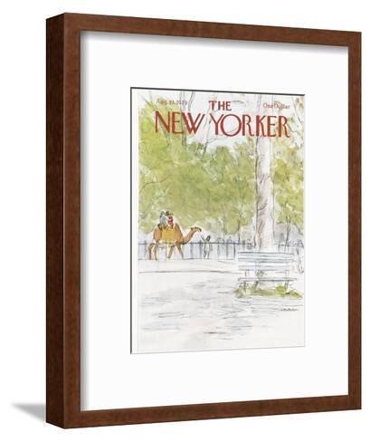 The New Yorker Cover - August 13, 1979-James Stevenson-Framed Art Print