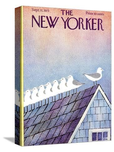 The New Yorker Cover - September 11, 1971-Charles E. Martin-Stretched Canvas Print