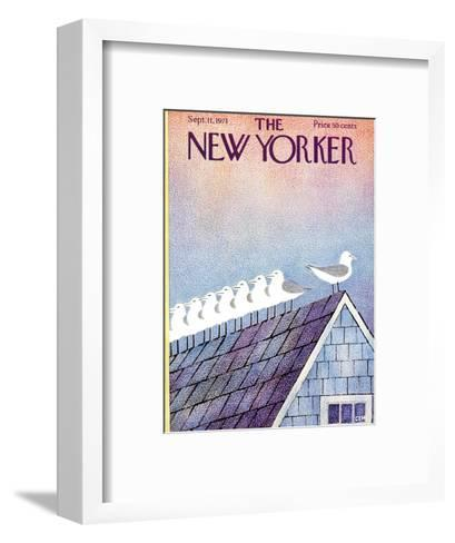 The New Yorker Cover - September 11, 1971-Charles E. Martin-Framed Art Print