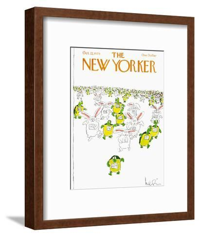 The New Yorker Cover - October 22, 1979-Arnie Levin-Framed Art Print