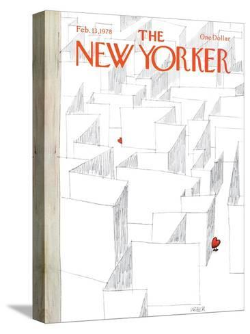 The New Yorker Cover - February 13, 1978-Robert Weber-Stretched Canvas Print