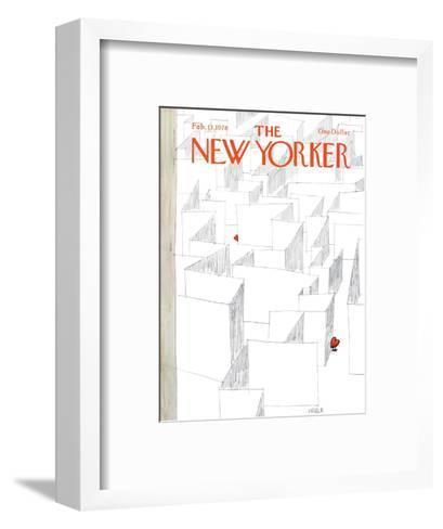 The New Yorker Cover - February 13, 1978-Robert Weber-Framed Art Print