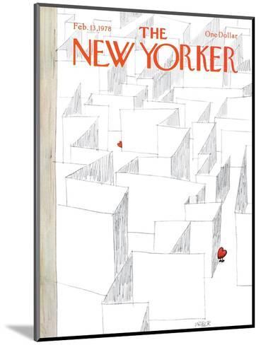 The New Yorker Cover - February 13, 1978-Robert Weber-Mounted Premium Giclee Print