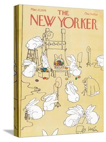 The New Yorker Cover - March 27, 1978-Arnie Levin-Stretched Canvas Print
