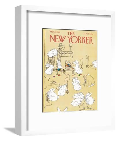 The New Yorker Cover - March 27, 1978-Arnie Levin-Framed Art Print