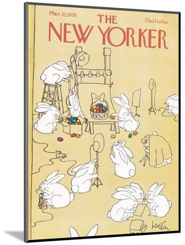 The New Yorker Cover - March 27, 1978-Arnie Levin-Mounted Premium Giclee Print