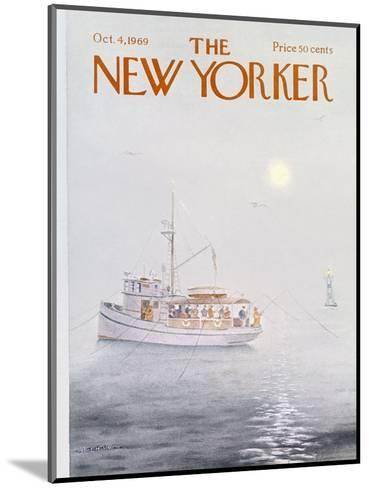 The New Yorker Cover - October 4, 1969-Albert Hubbell-Mounted Premium Giclee Print
