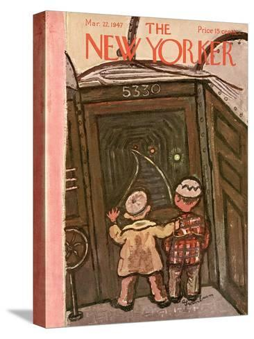 The New Yorker Cover - March 22, 1947-Abe Birnbaum-Stretched Canvas Print