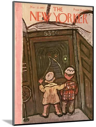 The New Yorker Cover - March 22, 1947-Abe Birnbaum-Mounted Premium Giclee Print