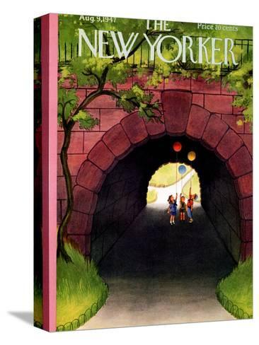 The New Yorker Cover - August 9, 1947-Edna Eicke-Stretched Canvas Print