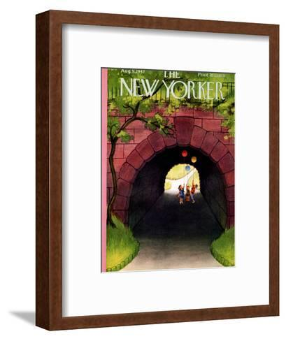 The New Yorker Cover - August 9, 1947-Edna Eicke-Framed Art Print