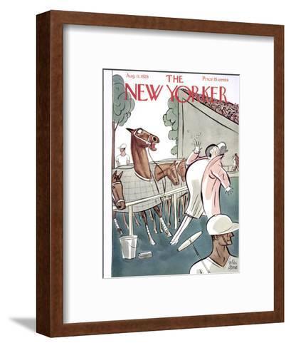 The New Yorker Cover - August 11, 1928-Peter Arno-Framed Art Print