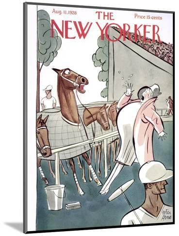 The New Yorker Cover - August 11, 1928-Peter Arno-Mounted Premium Giclee Print