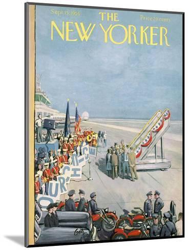 The New Yorker Cover - September 15, 1956-Arthur Getz-Mounted Premium Giclee Print