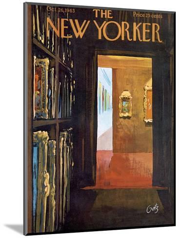 The New Yorker Cover - October 26, 1963-Arthur Getz-Mounted Premium Giclee Print