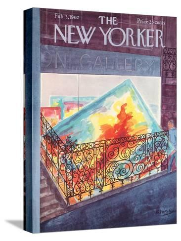The New Yorker Cover - February 3, 1962-Anatol Kovarsky-Stretched Canvas Print