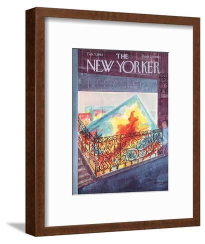 The New Yorker Cover - February 3, 1962-Anatol Kovarsky-Framed Art Print