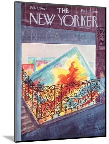 The New Yorker Cover - February 3, 1962-Anatol Kovarsky-Mounted Premium Giclee Print
