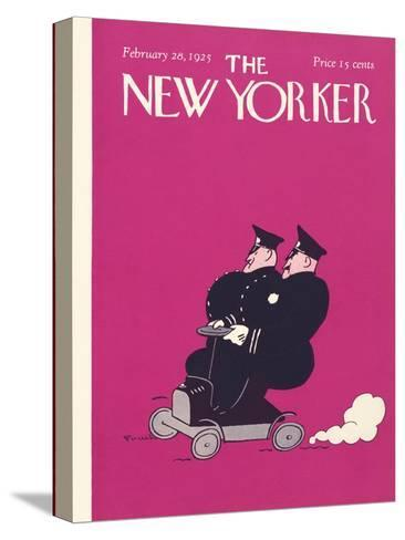 The New Yorker Cover - February 28, 1925-Carl Fornaro-Stretched Canvas Print
