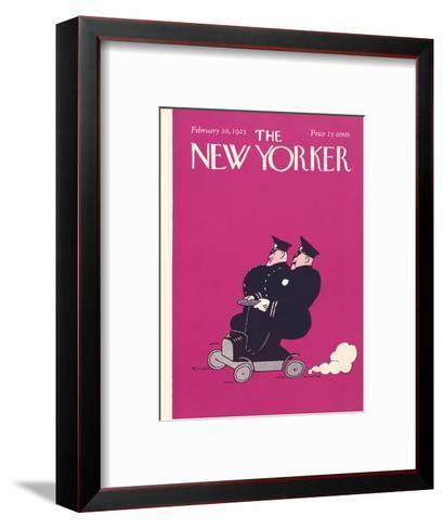 The New Yorker Cover - February 28, 1925-Carl Fornaro-Framed Art Print