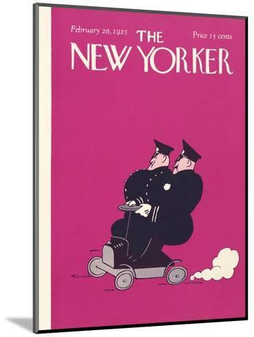 The New Yorker Cover - February 28, 1925-Carl Fornaro-Mounted Premium Giclee Print