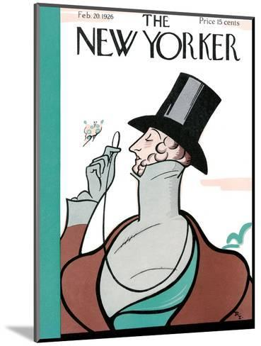 The New Yorker Cover - February 20, 1926-Rea Irvin-Mounted Premium Giclee Print